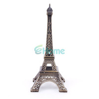 romantic home decorations - 13cm Home Decoration Bronze Tone Eiffel Tower Metallic Model Iron Romantic Decor dandys