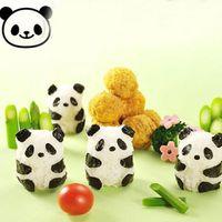 Wholesale Punch Sushi Rice Ball Mold Onigiri Mould Nori DIY Maker Bento Tool Panda Shape dandys