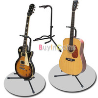 acoustic guitar gear - New Black Guitar Folding Fold Tripod Gear Tubular Acoustic Electric Guitar Stand dandys