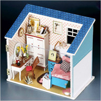 Wholesale DIY Lovely Wooden Dollhouse Furniture Large Dream Villa Room Model Bedroom Gift dandys
