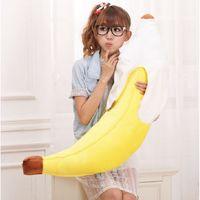 al por mayor rellenas de plátano juguete-Nueva novedad Simulación Amarillo Plátano relleno felpa del amortiguador de la almohadilla de juguete de regalo 70cm # 55717, dandys