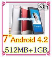 Cheap Wholesale - High quality Cheap 10pcs 7 inch 3G Phone Call Tablet PC MTK6572 Dual Core Android 4.2 Bluetooth Wifi 4G Dual Camera SIM Card GPS