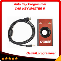 Cheap Gambit programmer CAR KEY MASTER II Auto Transponder Key Programmer gambit RFID Tool free shipping