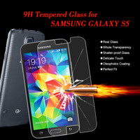Wholesale New Tempered Glass Screen Protector Protective Film For Samsung Galaxy S5 i9600 High Quality Super Transparency Hot Sale