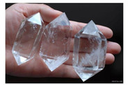 Wholesale free ship natural quartz rock crystal double terminated point healing