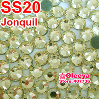 Wholesale DMC Hot Fix bags rhinestone Jonquil ss20 mm bag Have a try