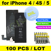 Wholesale FREE DHL High Quality Internal Built In Li ion Polymer Battery Replacement V For iPhone G iPhone S iPhone G
