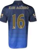 home kit - WHOLESAE Man City Jersey Home Blue KUN AGUERO LAMPARD ZABALET TOURE YAYA Manchester Soccer Jerseys Kits uniforms