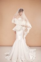 Cheap Famous Designer Newest Design White Stretch Satin And Lace Mermaid Wedding Dresses 2014 Elegant Bridal Gowns For Church Free Veil N665