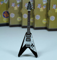 Wholesale Flying V Marc Bolan electric Gibson Guitar Miniature Music Figure Toy Gift New Creative Mini Children Educational Guitar And Toy