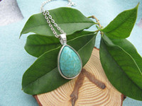 turquoise jewelry - Water drop jewelry Turquoise necklace