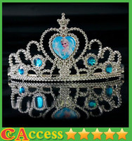 Wholesale 2014 New frozen crown tiara dress Elsa Anna princess crowns hearts diamond tiara baby girls party hair accessories pageant hairban