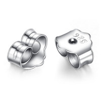 Cheap iice solid 925 sterling silver earrings earplugs ear plug the ear wall professional sales delivered free silver jewelry wholesale