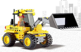 Wholesale 8042 City Build Series Bulldozer Building Block Sets Educational DIY Construction Brick
