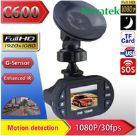 night view lens - C600 HD Car DVR rear view Camera Degree wide angle lens Mini quot LCD TFT screen Video Recorder G sensor Night Version