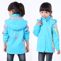 Wholesale Autumn Winter Children Clothing Girls Windproof Breathable Outerwear Tench Top Kid Plus Cotton Velvet Waterproof Outdoor Jacket Pizex M1632