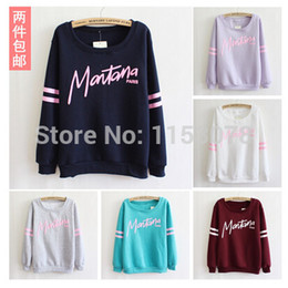 Wholesale Newest Style Tracksuit Big Letters Loose Women Cotton Hoodies Lady Warm Well Fleece Winter Sweatshirt