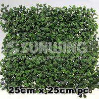 artificial grass - high quality density artificial boxwood grass mat cmX25cm anti UV leaf foliage leaves G0602A001C