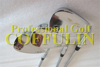 Wholesale 2014 New Golf Vokey Wedge SM5 With Steel Shaft Degree Golf Wedge Clubs Silver Color With Grips And Headcover