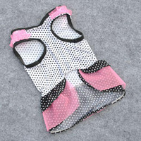 Wholesale 2014 Fashion Polka Dot Pink Veil Princess Shirts Dress Dog Clothes Cute Puppy Clothes dog Apparel Fedex
