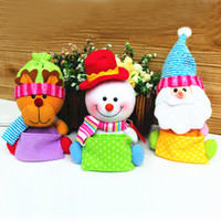 Wholesale New Christmas Tree Ornament Candy Bag Snowman Santa Claus And Deer Styles Available Enfeites De Natal SHB193