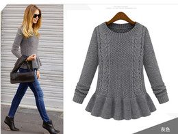 Wholesale New arrival autumn fashion vintage skirt twist o neck sweater female pullover sweater