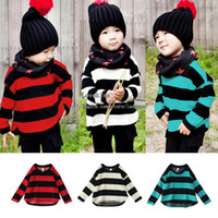 Wholesale Autumn Korean Knitted Sweaters Kids Pullover Children Pullover Boys Girls Wool Sweaters Children Sweater Pullover Fashion Pullover Sweaters