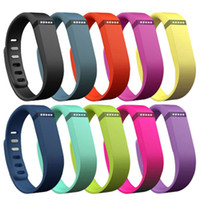 Wholesale Replacement rubber Band WITH metal Clasps for Fitbit Flex NoTracker only rubber band Large and Small size DHL Free