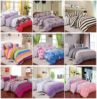 Wholesale Home textile Reactive Printed pc bedding set include Duvet Cover Bed sheet Pillowcase Full size for m bed set
