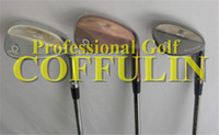 Wholesale 3PCS Golf BV Vokey SM4 Wedge Degree With Steel Shaft Black Oil Silver Color Golf Clubs Wedge