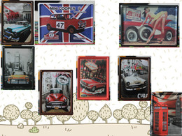 Wholesale 2014 fashion cm classic vintage mini car automotor auto Sign Coffee Shop Bar Restaurant Wall Art decoration Bar Metal Paintings