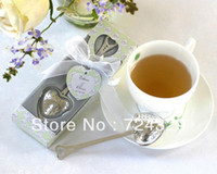 Wholesale Tea Infuser Heart Tea Ball Spoon Stainless Steel Herbal Pot Tea Infuser Strainers Filter Wedding Gift