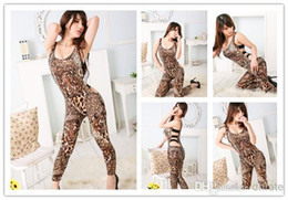 Wholesale Fashion Sexy female women s sexy clothing leopard print Lingerie Tiger Head pants jumpsuits sleepwear pajamas homewe