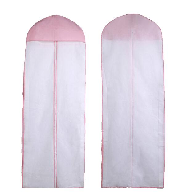 Cheap white pink bridal accressories 155cm wedding dress for Wedding dress travel case