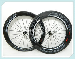 Wholesale Front Rear mm carbon road bike wheels with logo carbon clincher wheels FULL carbon bicycle wheels free ship carbon fiber road wheelset