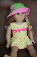 Wholesale Doll Clothes doll accessories swimsuit cap outfits fits for quot American Girl doll gift original doll accessories