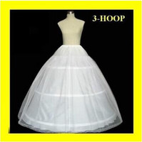 hoop skirts - High Quality Cheapest In Stock Ball Gown Bone Full Crinoline Bridal Hoop Petticoats For Wedding Dress Wedding Skirt Accessories Slip