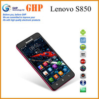 WCDMA 5 inch android phone - Original Lenovo S850 inch G Smartphone MTK6582 Quad Core Mobile Phone Android IPS Screen Dual Sim Card MP Camera GPS