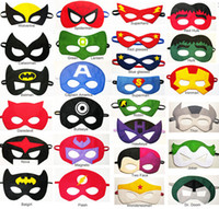 Wholesale super hero mask kids eyemask cosplay superman mask batman cosplay mask cosplay mask captain america spiderman mask kids Satin mask newest