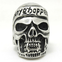 Wholesale Newest Mens Boys L Stainless Steel Cool Punk Gothic Cool Pirate Vimpire Skull Newest Design Factory Price