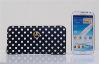 Wholesale Hot Mk bag cases for iPhone s s Samsung s4 s5 dot handbag Long MK Zipper Wallet Wristlet purse