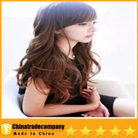 Wholesale 2014 Inclined Bang Wigs Korean Fashion Wig Ringlet Inclined Bang Fix Face Beauty Wig COS