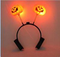 Wholesale Halloween costumes decoration Adult children glowing double pumpkin head The first emperor ku head hoop