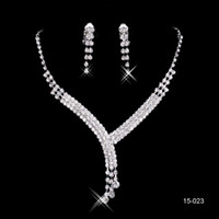 quality jewelry - High Quality New necklace and earring set Silver plated Rhinestones Diamond Designer Evening Bangles Bridal Accessory Jewelry