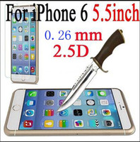 Wholesale 0 MM iphone plus Tempered Glass plus Screen Protector mm D Explosion Proof Screen Film Guard without retail box
