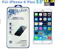 Wholesale iphone plus Tempered Glass For iPhone plus Screen Protector mm D Explosion Proof Screen Film Guard with box