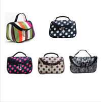 Wholesale 2014 New Canvas Makeup Bag Cosmetic Cases Coin Keychain Keys Wallet Purse Change Pocket DH04