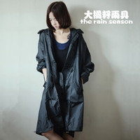 Wholesale waterproof breathable fashion women s men s raincoat lightweight thinner rain poncho trench coat