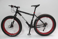 sram red - Cool Big Tire Snow Bike quot Fat Tire Bike New Sram Groupset speed Beach Cruiser Fatboy Bicycle Black Frame with Red Rim