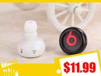Wholesale iphone6 earphone World Smallest Bluetooth Stereo Headphone Headset Earphones for iPhone6 S plus Samsung htc